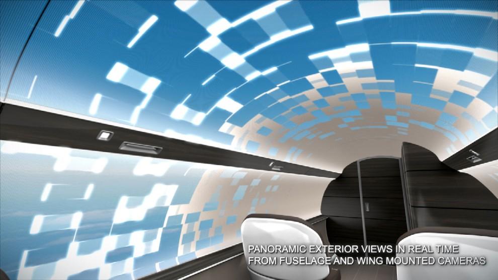 L'aereo con vista panoramica (senza finestrini)