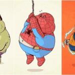Supereroi XXL, quando i paladini mascherati perdono la lotta col cibo spazzatura