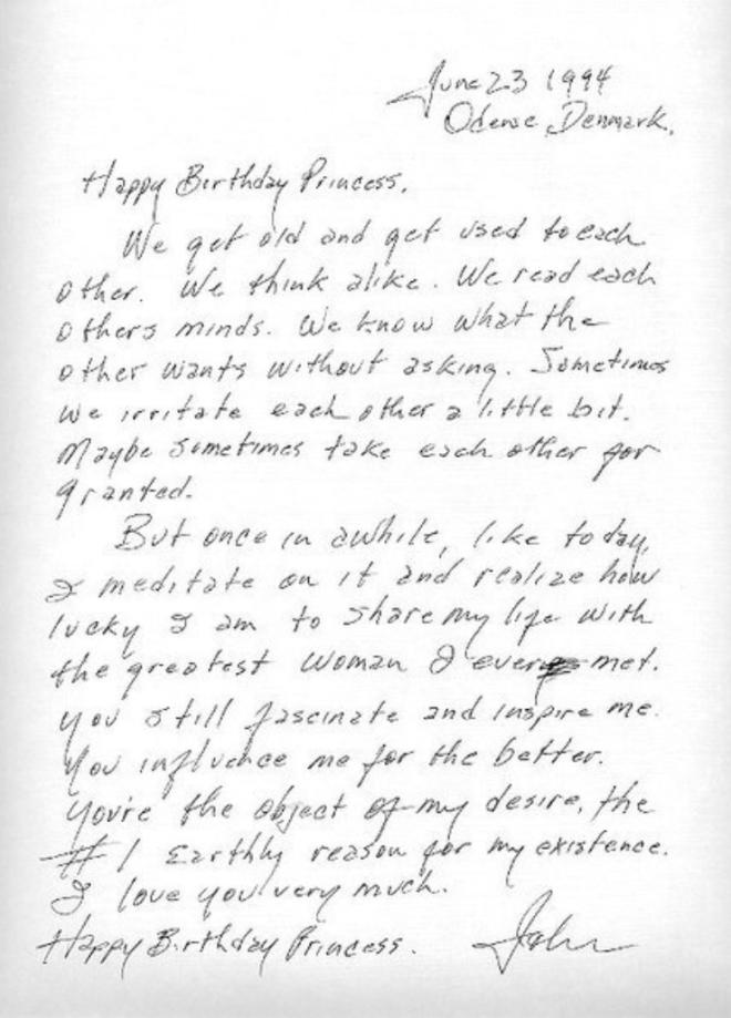 Lettera Auguri Matrimonio : Johnny cash buon compleanno principessa la lettera d