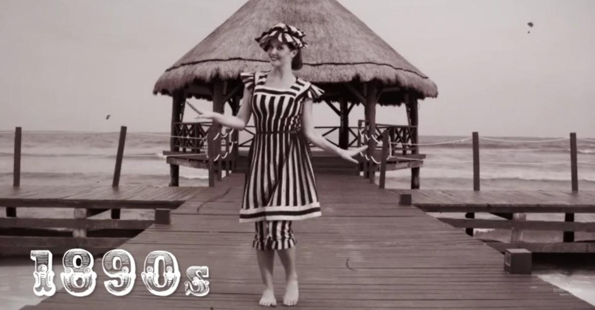 Bikini revolution 100 anni di moda da a mare in 90 secondi radio deejay - Costumi da bagno del 1900 ...