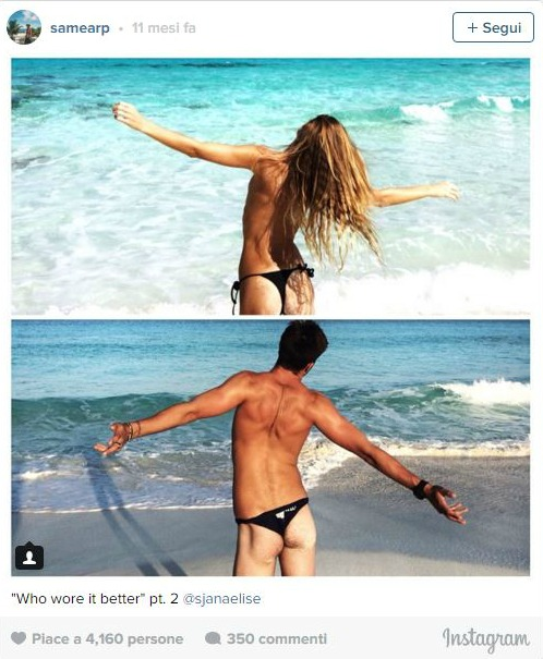 Favorito Copia le pose instagram della sorella e si apre il dibattito: chi  FW45
