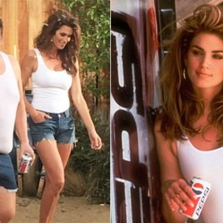 A 50 anni come a 26. Canotta e hot pants nella parodia dello storico spot Pepsi
