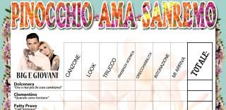Pinocchio, le schede di #Sanremo2016