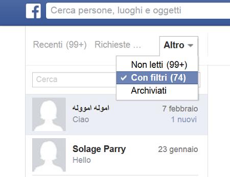 I messaggi segreti di facebook potresti averli nella for Segreti facebook