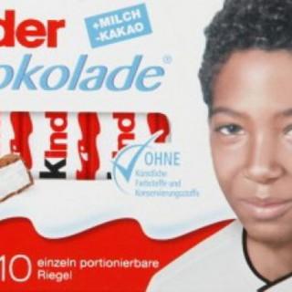 Bambini di colore sulle barrette Kinder, la destra xenofoba protesta