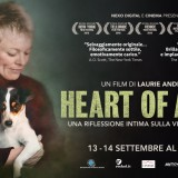 """LAURIE ANDERSON PORTA AL CINEMA """"HEART OF A DOG"""" solo il 13 e 14 settembre"""
