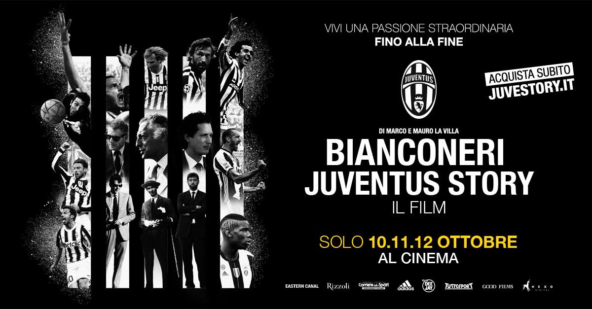 "IL DOCU-FILM ""BIANCONERI JUVENTUS STORY"" AL CINEMA DAL 10 AL 12 OTTOBRE"