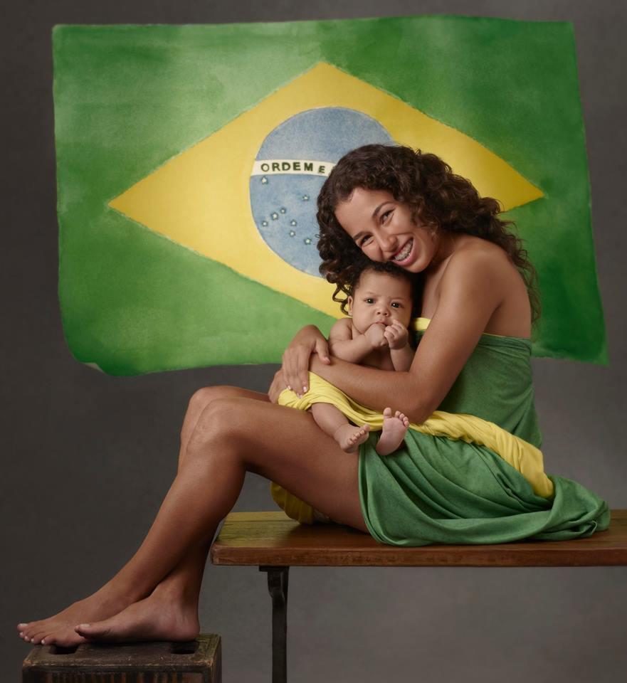 La runner brasiliana Suélen Marcheski de Oliveiraha con Julian
