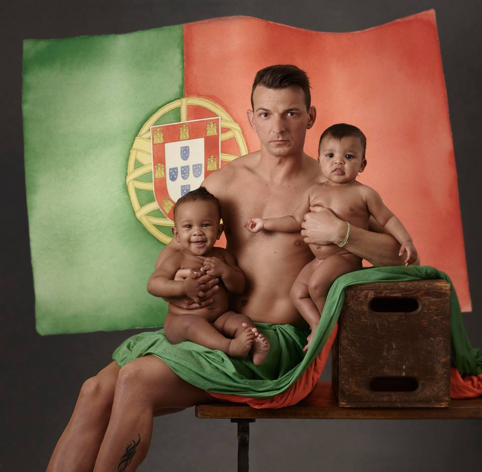 Il campione di atletica leggera Lenine Cunha con Gabriella e Kendrick