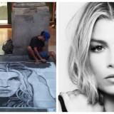 """L'appello di Emma Marrone per trovare l'artista di strada: """"Mi ha fatto un ritratto, lo conoscete?"""""""