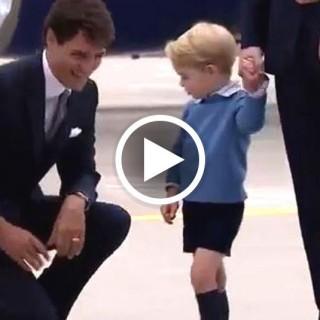 """Il principino George """"snobba"""" il premier canadese Justin Trudeau"""
