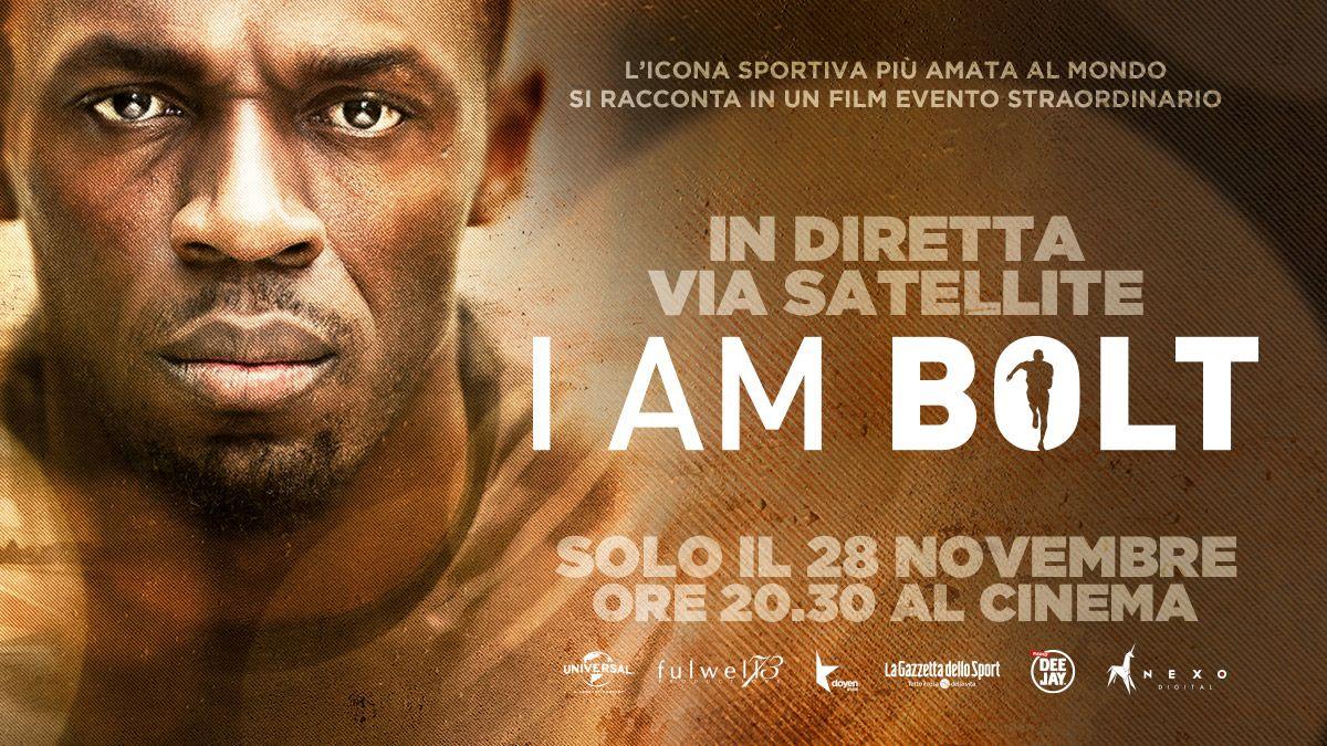 """Una notte al cinema con """"I am Bolt"""". Non perderti la diretta contemporanea mondiale il 28 novembre alle 20.30"""