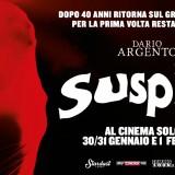 """Dal 30 gennaio, torna al cinema dopo 40 anni """"Suspiria"""" il capolavoro di Dario Argento restaurato in 4K"""
