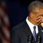 Obama si commuove ringraziando Michelle nell'ultimo discorso da presidente USA