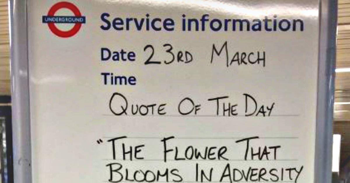 Metropolitana di Londra: il messaggio dello staff scalda i cuori dei passeggeri dopo l'attacco