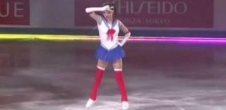 """Sailor Moon danza sul ghiaccio: l'esibizione della pattinatrice """"In nome della Luna"""""""
