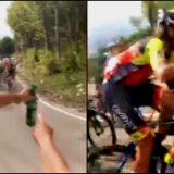 """Birra in salita al Giro d'Italia, Pozzato accetta l'invito del tifoso: """"Un sorso per i tuoi discepoli"""""""