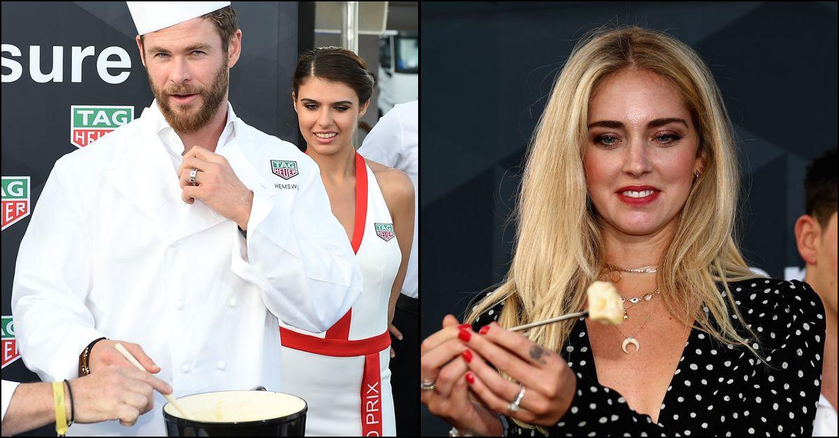 Chris Hemsworth cucina, Chiara Ferragni assaggia: la dolce vita di Montecarlo