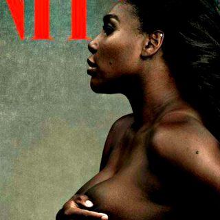 Serena Williams senza veli e col pancione Vanity Fair