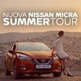Ti serve un passaggio? Chiedilo a Nissan Micra Summer Tour. Scopri quando sarà nella tua città!