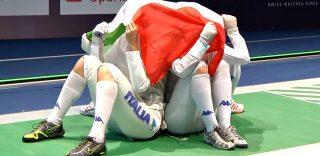 Italia d'oro nel fioretto a squadre femminile: le azzurre ballano come gli All Blacks