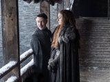 "Aidan Gillen as Petyr ""Littlefinger"" Baelish and Sophie Turner as Sansa Stark – Photo: Helen Sloan/HBO"
