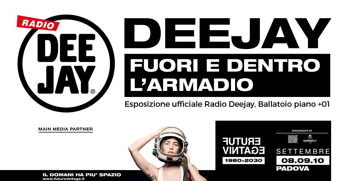 """Radio Deejay fuori e dentro l'armadio """"in mostra"""" al Future Vintage Festival"""