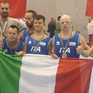 Campione d'Europa con i ragazzi con la sindrome di Down