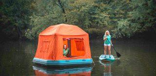 Con la tenda galleggiante si potrà campeggiare sull'acqua: come funziona