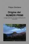 copertina Origine dei NUMERI PRIMI