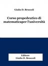 copertina Corso propedeutico di matematica...