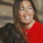 Elisabetta Gregoraci sul go-kart con Nathan Falco