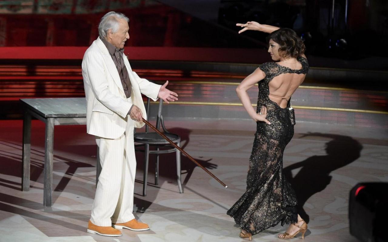 Giorgio Albertazzi ed Elena Coniglio