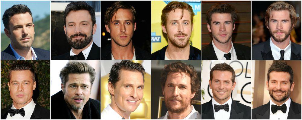 Sondaggio: Brad Pitt, Bradley Cooper e gli altri vip, meglio con o senza barba?