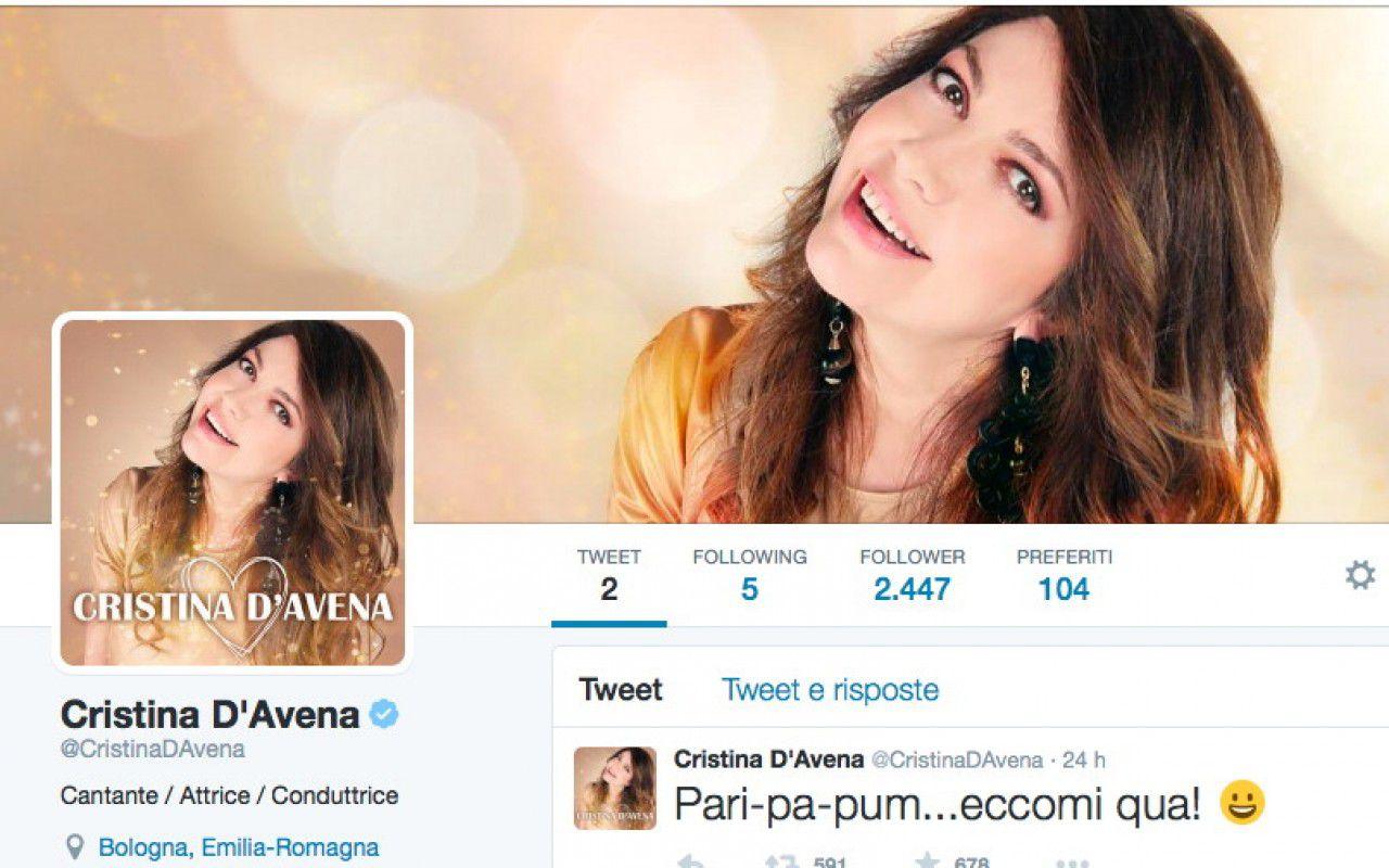 Cristina D'Avena sbarca su Twitter e subito scatena i follower
