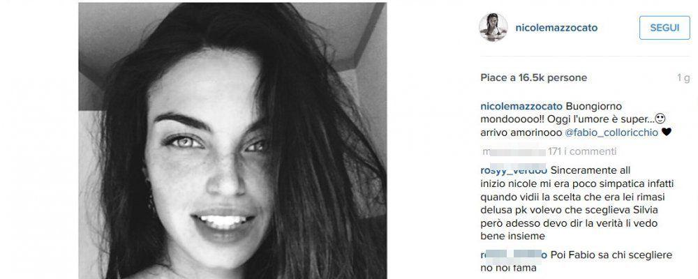 Uomini e Donne, Nicole difende su Instagram il suo rapporto con Fabio