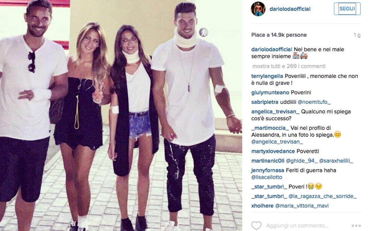 Temptation Island: incidente stradale per Dario, Emanuele, Alessandra e Claudia