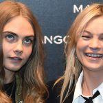 Kate Moss e Cara Delevingne testimonial a Milano scatenano i fan