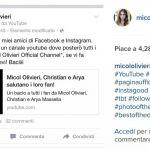 Micol Olivieri diventa una youtuber con un canale dedicato