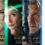Star Wars, The Force Awakens: i character poster con Han Solo e Leia