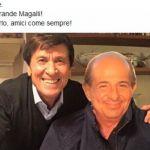 Gianni Morandi su Facebook a Magalli 'Ciao Giancarlo amici come sempre'