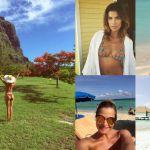 Belen Rodriguez, Alessia Marcuzzi, Elisabetta Canalis e le altre star in spiaggia in inverno