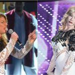 Sanremo 2016, quarta serata: la Raffaele imita Belen, ma con l'abito di Emma. E Belen (quella vera) ringrazia