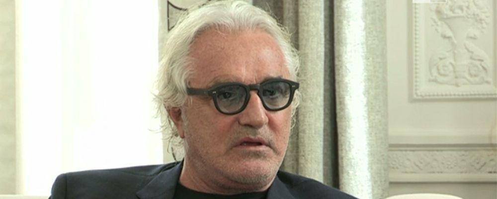 Flavio Briatore e il bacio alla mora misteriosa: 'Quella foto è il nulla'