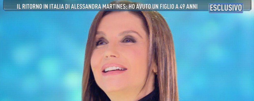 """Alessandra Martines: """"Così sono diventata mamma a 49 anni"""""""