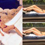 Alessia Marcuzzi, il primo bikini dell'estate 2016