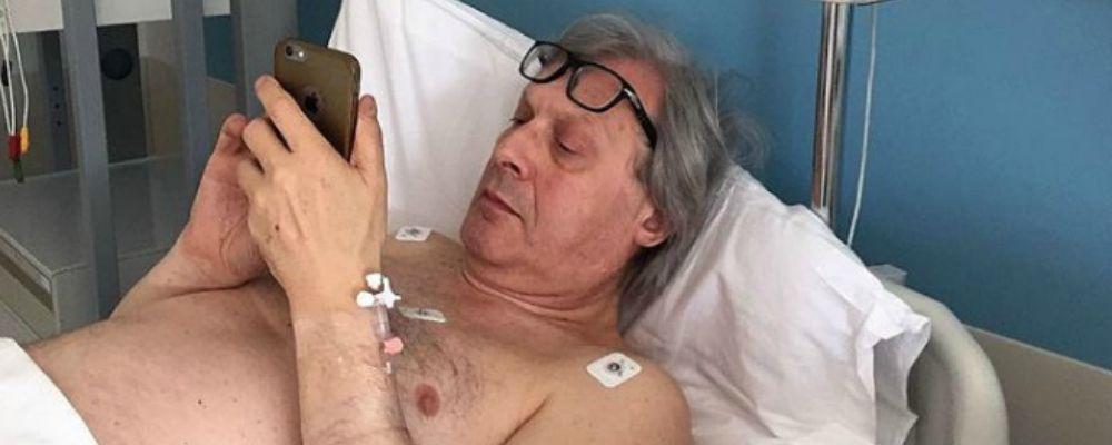 Vittorio Sgarbi ricoverato: 'Sono depilato ma vivo'