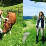 Michelle Hunziker in Svizzera, tra prati e pascoli: ritorno alle origini