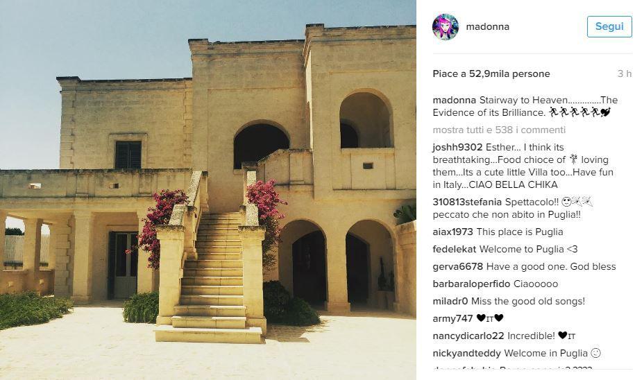 La foto di Madonna scatena la caccia alla popstar in Puglia