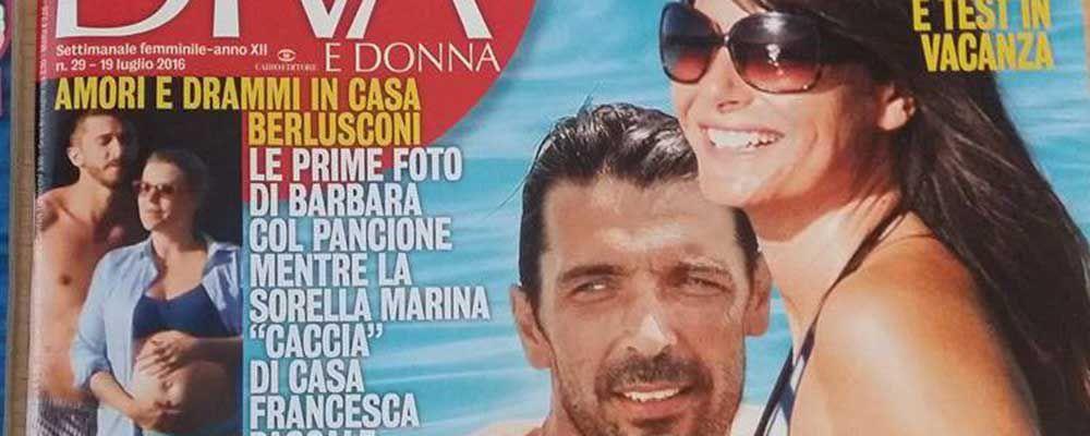 Ilaria d'Amico e Gianluigi Buffon: passione in barca dopo gli Europei. E' l'anticipo della luna di miele?